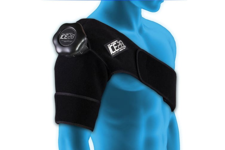 Ice20 Ice Therapy Single Shoulder Cold Compression Wrap Pain Relief w/ Strap/Bag
