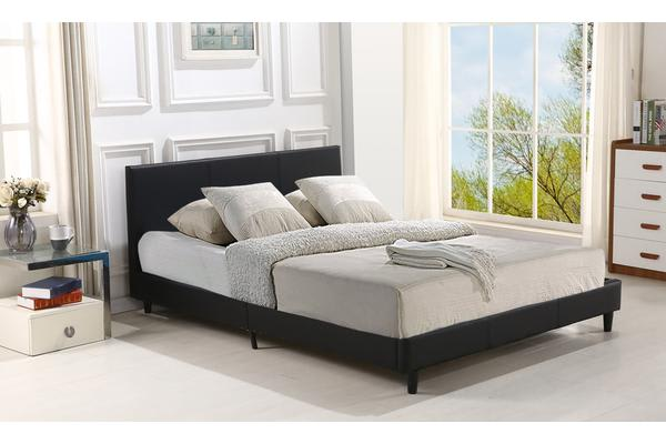 Dick Smith Gas Lift Storage Pu Leather Bed Frame Black King Bed
