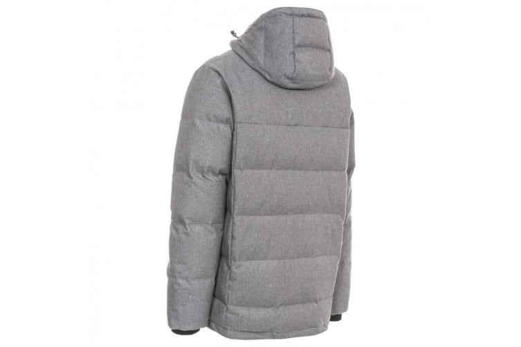 Trespass Mens Sadler Down Jacket (Dark Grey Marl) (XS)