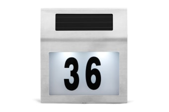 Solar Powered House Number LED Light