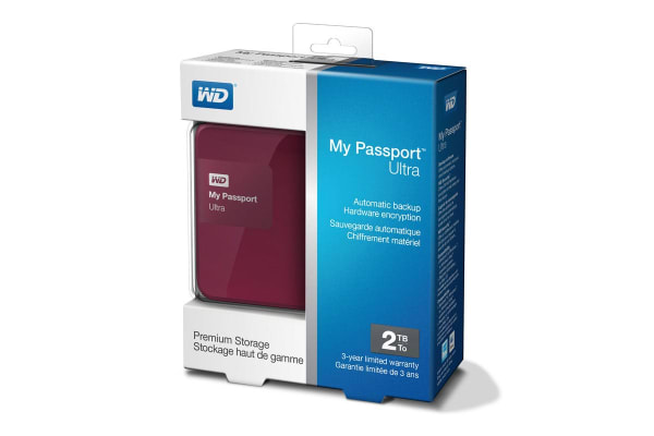 "WD My Passport Ultra Portable 2.5"" 2TB External USB 3.0 HDD - Berry (WDBBKD0020BBY)"