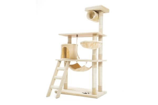 Cat Tree Scratcher MAPLE 141cm - BEIGE