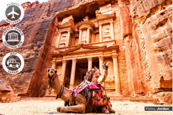 EGYPT & JORDAN: 17 Day Escorted Tour Including Flights for Two