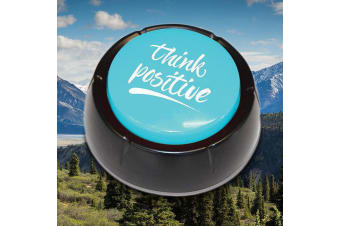 Think Positive Affirmation Button | Featured on CH 7 House Rules!