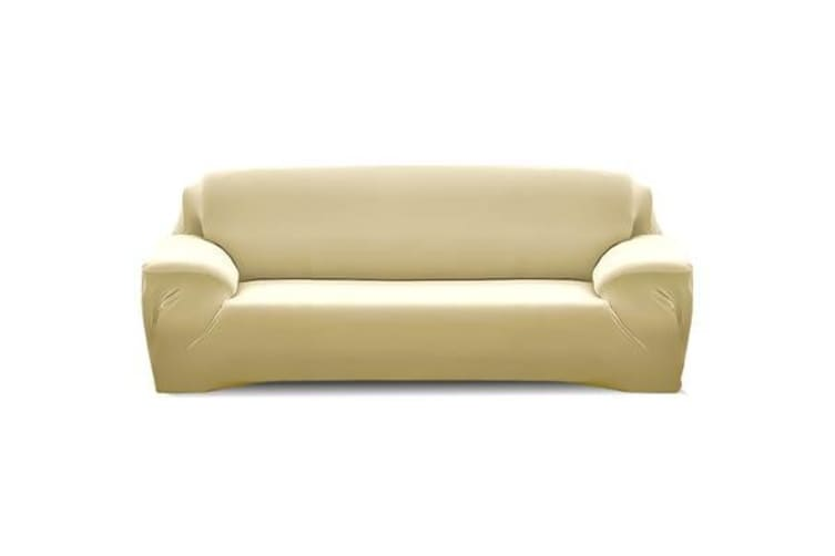 Easy Fit Stretch Washable 3 Seater Couch Sofa Slipcover CREAM