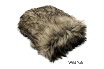 Luxury Long Hair Faux Fur Animal Throw Wild Yak by Artex