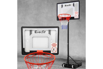 Portable Basketball Stand System Hoop Height Adjustable Net Ring Kid