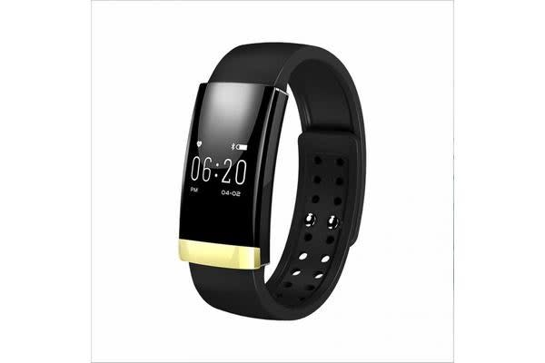 Bluetooth V4.0 Smart Fitness Tracker Watch Rechargeable Heart Rate Monitor Gold