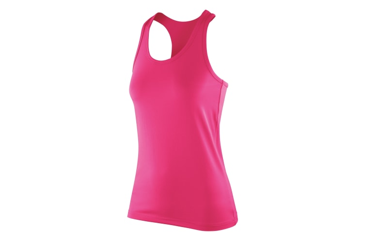 Spiro Womens/Ladies Softex Stretch Fitness Sleeveless Vest Top (Candy) (XS)
