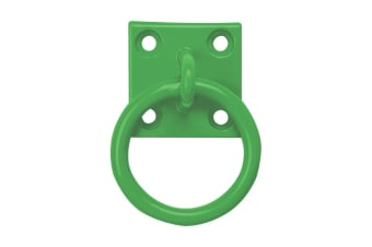 Perry Equestrian Chain Ring On Plate (Pack Of 2) (Green)
