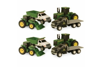 8pc John Deere Carded Diecast Toys Tractor/Trucks Farming Vehicles Gift Set GRN