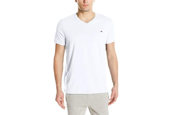 4835944d Tommy Hilfiger Men's V-Neck Flag Tee (White, Size S) - Kogan.com