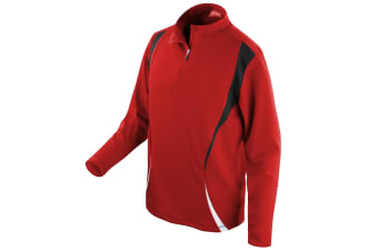 Spiro Unisex Sports Trial Performance Training Top (Red/Black/White) (M)