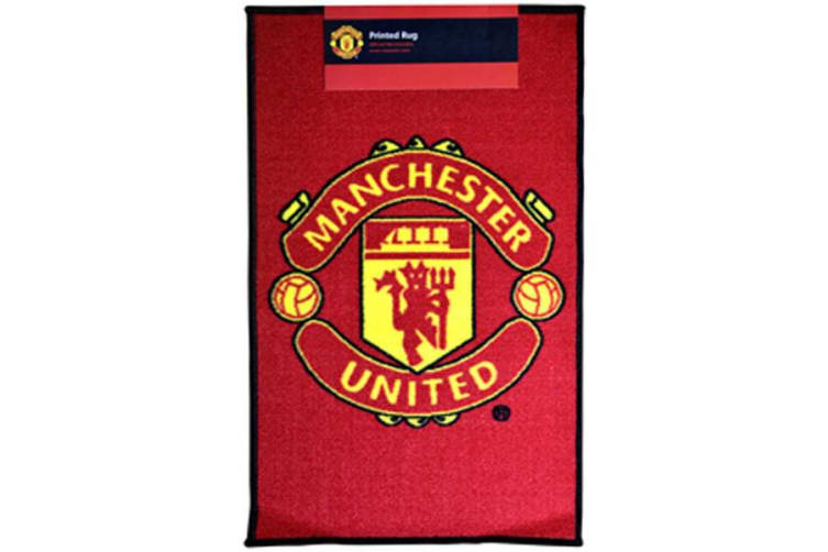 Manchester United Printed Crest Rug (Red) (50 x 80cm)