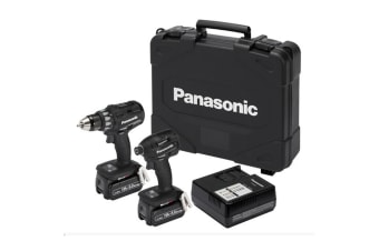 Panasonic EYC215LJ2G57 18V LITHIUM ION 5Ah DRILL & IMPACT DRIVER DUAL VOLTAGE (74A2 + 75A7) COMBO