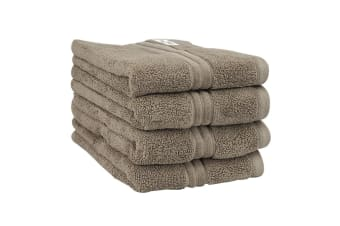 Onkaparinga Haven 600gsm Hand Towel Set of 4 (Mocha)