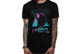 A Nightmare On Elm Street Adults Unisex Retro Design T-Shirt (Black)