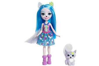 """Enchantimals 6"""" Doll - Winsley Wolf and Trooper Pet"""