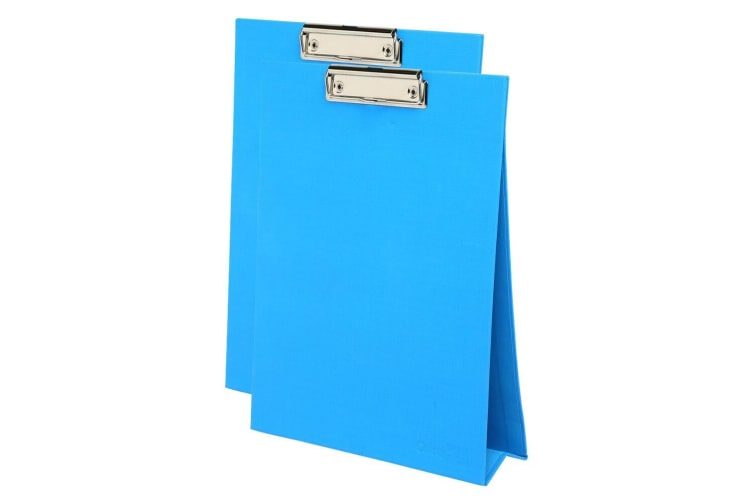 2PK ColourHide A4 Paper Stand Up Clipboard/Whiteboard Document Writing Board BL