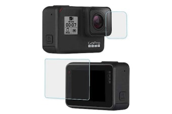 Generic Screen and Lens Glass Protector for Gopro Hero7 - Transparent
