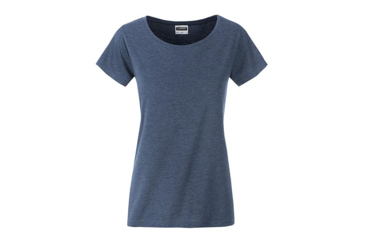 James and Nicholson Womens/Ladies Basic Organic Cotton T-Shirt (Light Denim Melange) (XL)