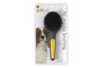 Bristle Brush for Dogs - JW Gripsoft Pet Grooming Tool