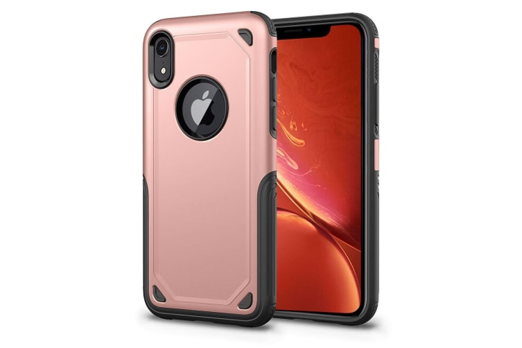 sports shoes d7f19 f18dd Shockproof Rugged Armour Protective Case For iPhone XR Rose Gold
