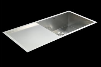 960x450mm Handmade Stainless Steel Undermount / Topmount Kitchen Sink with Waste
