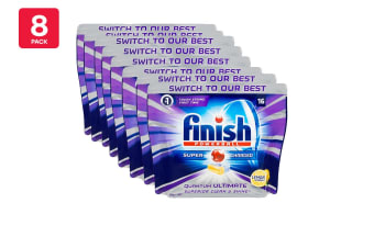 128 Finish Quantum Ultimate Powerball Dishwashing Tablets (8 x 16 Pack)