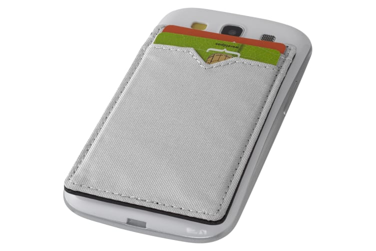 Avenue Dual Pocket RFID Phone Wallet (Silver) (10.8 x 6.3 x 0.2 cm)
