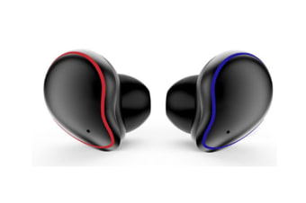 Select Mall 5.0 Wireless BluetoothHeadphones 3D Stereo Sound Waterproof HeadphonesNoise Cancelling Earbuds-BLACK