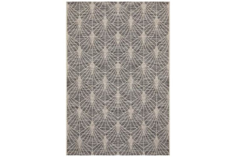 Wyatt Black & Natural Geometric Coastal Rug 230 x 160cm