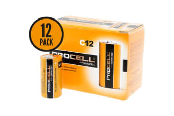 Duracell 'C' 12 Pack Procell Batteries