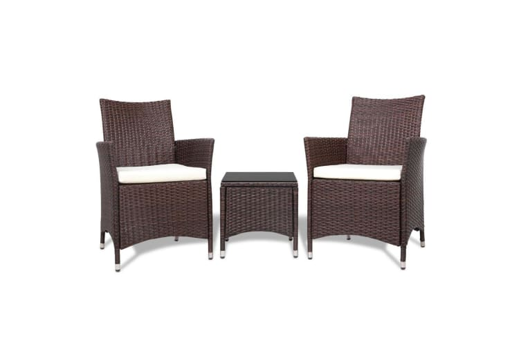 Patio Furniture Outdoor Furniture Set Chair Table Garden Wicker Brown