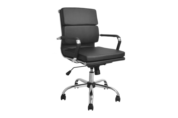 Ergolux Eames Replica Low Back Padded Office Chair (Black)