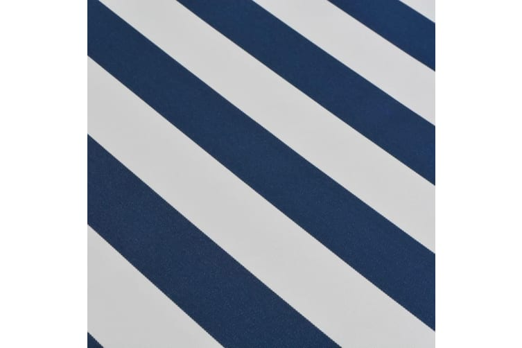vidaXL Folding Awning Manual-Operated 350 cm Blue and White