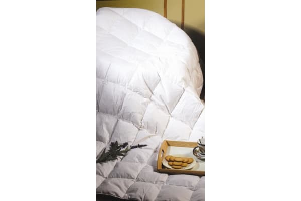 King Single Quilt - 100% White Goose Feather