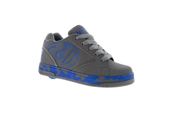 Heelys Propel 2.0 Grey Royal Confetti Kids Skate Roller Shoes Boys Girls Sneakers Toddler Blue Grey US 4
