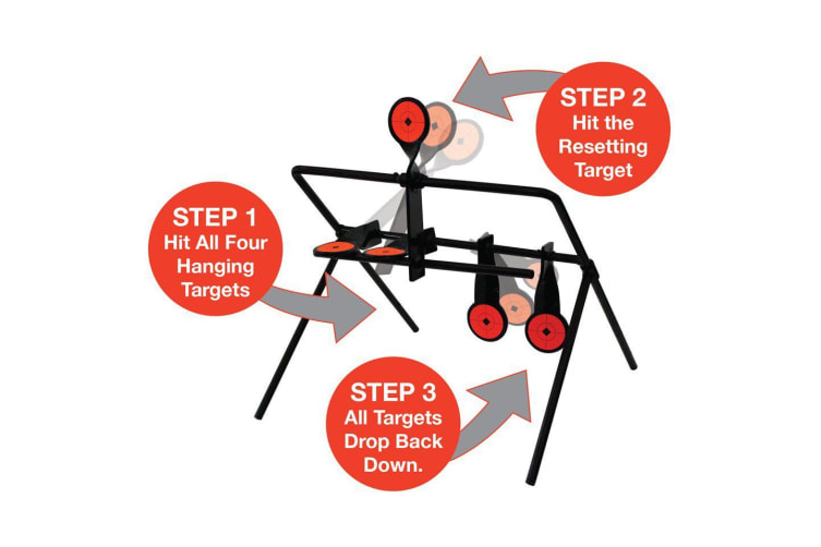 Auto Resetting Spinner Shooting Target 2.5mm For Air Gun