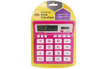 Marbig Coloured Desk Calculator Pink