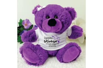 Personalised Graduation Teddy Bear - Purple