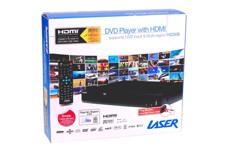 Laser DVD Player with HDMI, Composite & USB. Multi region