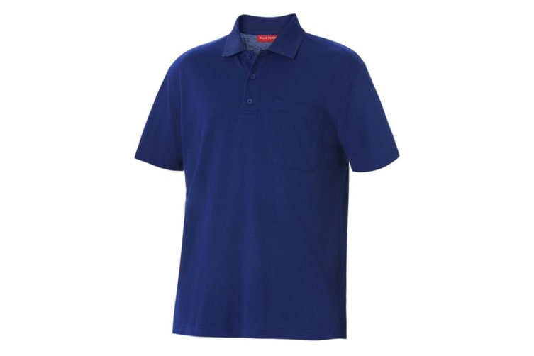 Hard Yakka Men's Foundations Pique Short Sleeve Polo (Royal, Size 4XL)