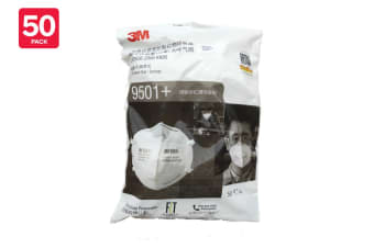 3M N95 9501+ KN95 Particulate Respirator Mask (50 Pack)