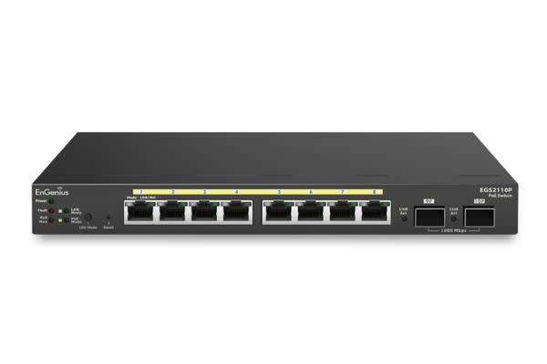 Engenius 8-Port Gigabit PoE Smart Switch with 2 Gigabit SFP