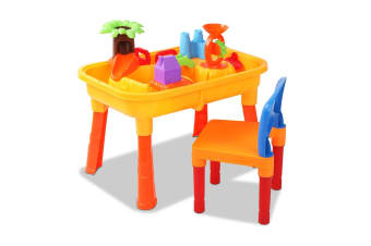 Kids Sand and Water Castle Table Play Set