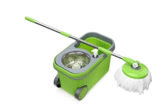 Kogan Premium 360° Spin Mop with Dispenser and 5 Mop Heads