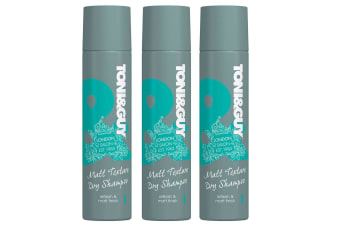3x Toni & Guy 250ml Matt Texture Spray Dry Shampoo Hair Care/Styling/Cleaning