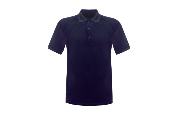 Regatta Professional Mens Coolweave Short Sleeve Polo Shirt (Navy) (3XL)