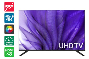 "Kogan 55"" 4K UHD HDR LED TV (Series 8 JU8200)"